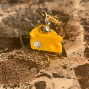 Juicy Couture Mouse and cheese charm